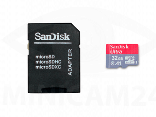 Карта памяти SDHC Micro SanDisk Ultra 32GB+ SD adapter