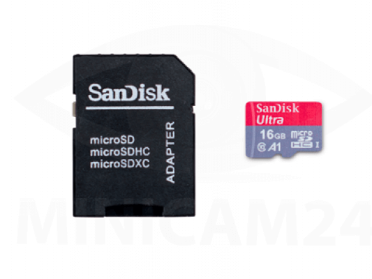 Карта памяти SDHC Micro SanDisk Ultra 16GB+ SD adapter - 2